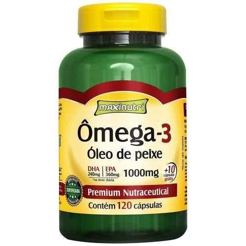 Omega 3 1g 120 Caps Gelatinosas - Maxinutri