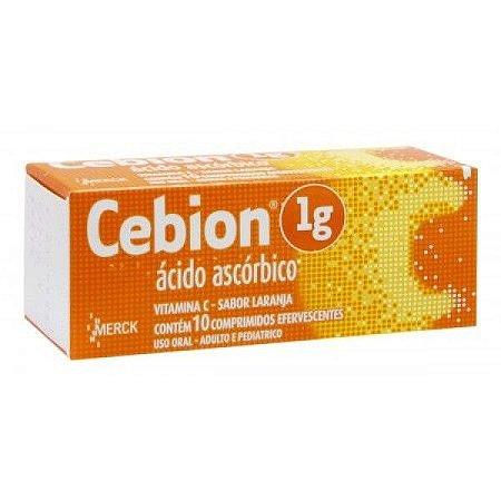 CEBION 1GR EFERV 10CPR laranja