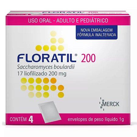 FLORATIL 200mg com 4 sachês Pediatrico - Merck