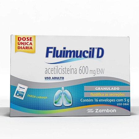 Acetilcisteina - FLUIMUCIL D 600MG 16ENV
