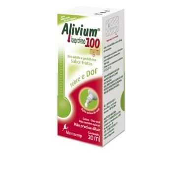 ALIVIUM GTS 100MG 20ML - IBUPROFENO
