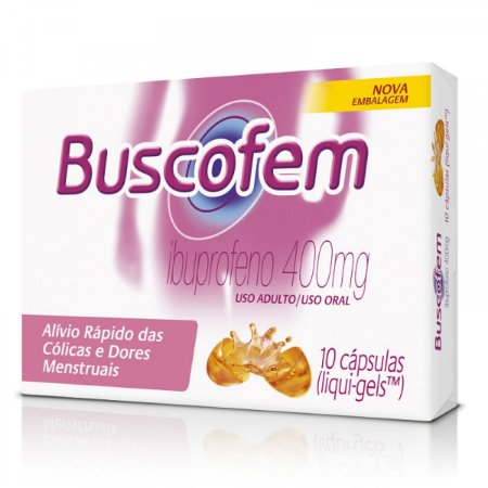 BUSCOFEM 400MG 10CAPS - Ibuprofeno