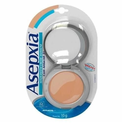 Asepxia Maquiagem Pó Compacto Anti-Acne Natural