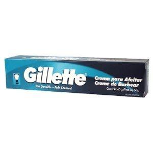 Creme Barbear Gillette Pele Sensível 65gr