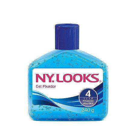 Gel de Cabelo NY Look Fixação 4 Sem Alcool 240G Azul