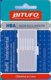 Refil Interdental Cilindrica 3mm 6un - Bitufo