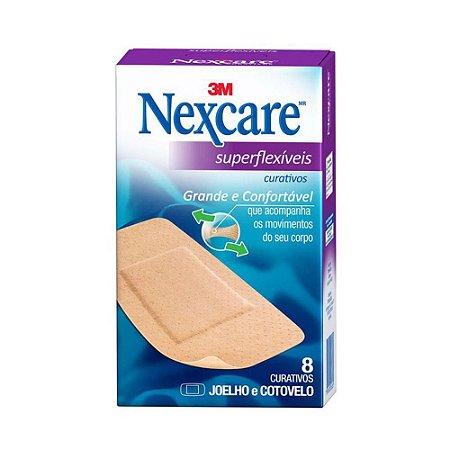 Nexcare Curativo Confort Joelho/Cotovelo c/ 8