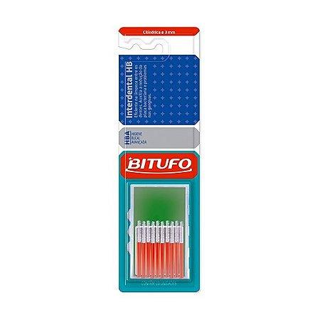 Escova Bitufo Interdental HB Cilíndrica Extrafina 3mm Vermel