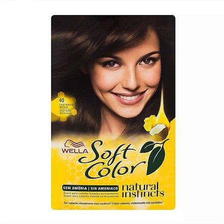 Tintura Soft Color 40 Castanho Medio