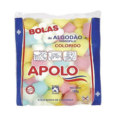 Algodão Apolo Bolas Colorido 100gr
