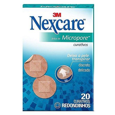 Curativo 3M Nexcare Microporoso redondinho c/20