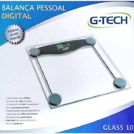 G Tech Balança Digital Glass Vidro 150kg