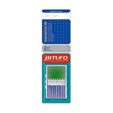 Escova Interdental Bitufo HB Conica 3 a 7mm  c/10unid.Azul
