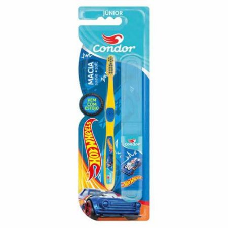 Escova Dental Condor Infantil HotWeels c/ Estojo