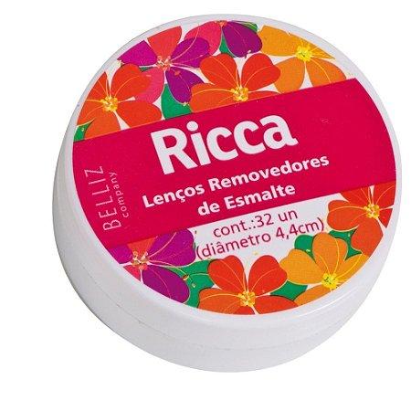 Lenço Umedecido Removedor de Esmalte Ricca  32un ref.:3705