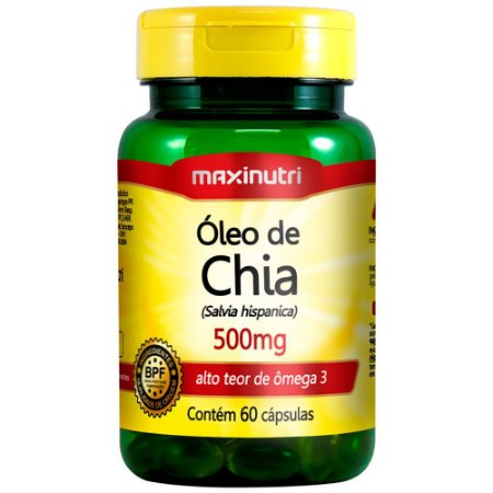 Oleo de Chia 500mg 60cps - Maxinutri
