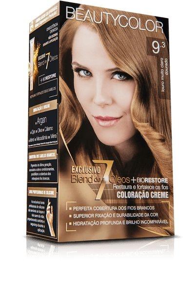 Tintura beauty color 9.3 louro muito claro dourado