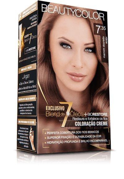 Tintura Beauty Color Kit 7.35 louro dourado acaju