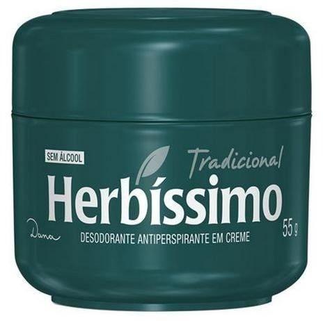 DESODORANTE  HERBÍSSIMO CREME TRADICIONAL 55GR verde
