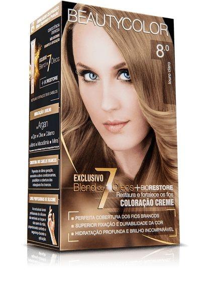 Tintura Beauty Color Kit Nova 8.0 Louro Claro