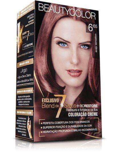 Tintura Beauty Color Kit Nova 6.65 Acaju Sensation