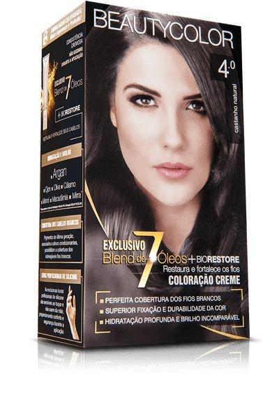 Tintura Beauty Color 4.0 Castanho Natural