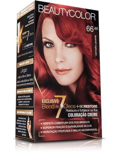 Tintura Beauty Color Kit Nova 66.46 Vermelho Picante