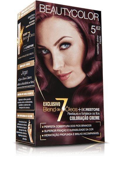 Tintura Beauty Color Kit Nova 5.62 Vermalho Vinho Irisado
