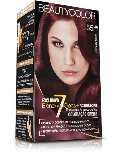Tintura Beauty Color Kit Nova 55.46 Vermelho Fatale