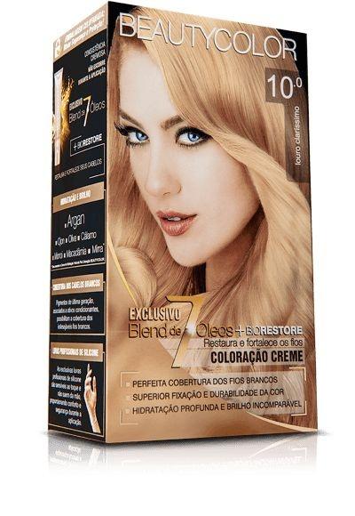 Tintura Beauty Color Kit Nova 10.0 Louro Clarissimo