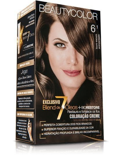 Tintura Beauty Color Kit Nova 6.1  Louro Escuro Acinzentado