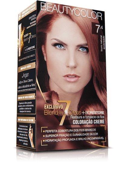 Tintura Beauty Color Kit Nova 7.4 Cobre