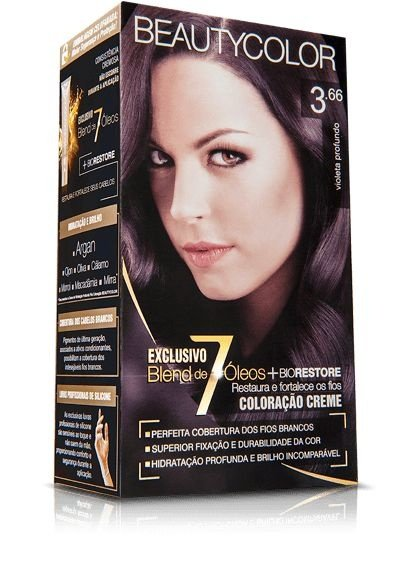 Tintura Beauty Color Kit 3.66 Castanho Purpura