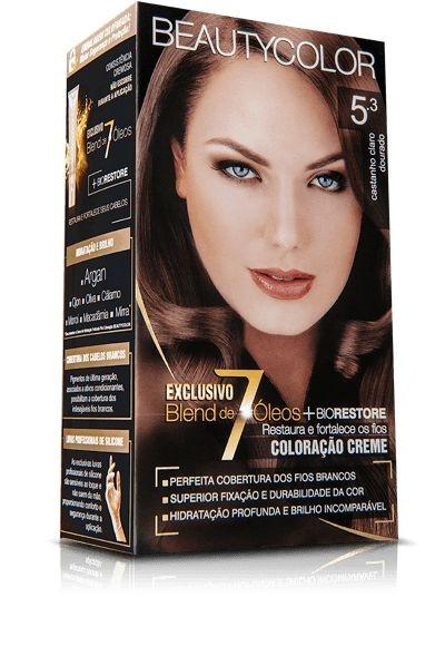 Tintura Beauty Color Kit Nova 5.3 Castanho Dourado