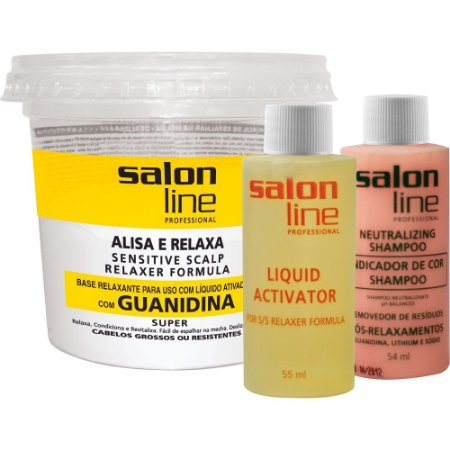 Alisante Salon Line Guanidina Pote Super - Cabelos Grossos