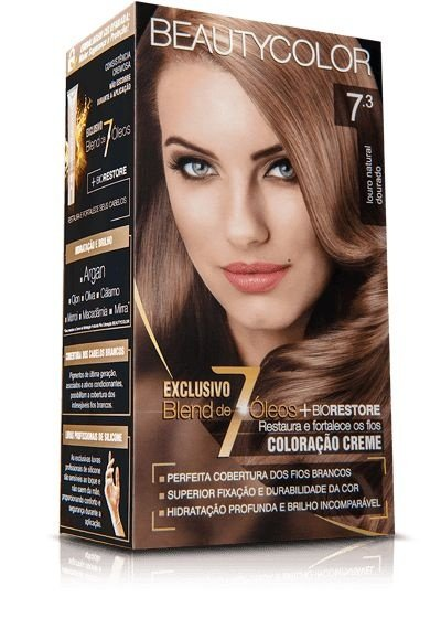 Tintura Beauty Color Kit 7.3 Louro Natural Dourado