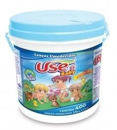 Lenço Umidecido Use It Baby Balde c/400 unid Azul