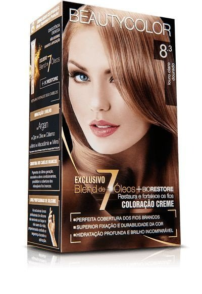 Tintura Beauty Color Kit Nova 8.3 Louro Claro Dourado