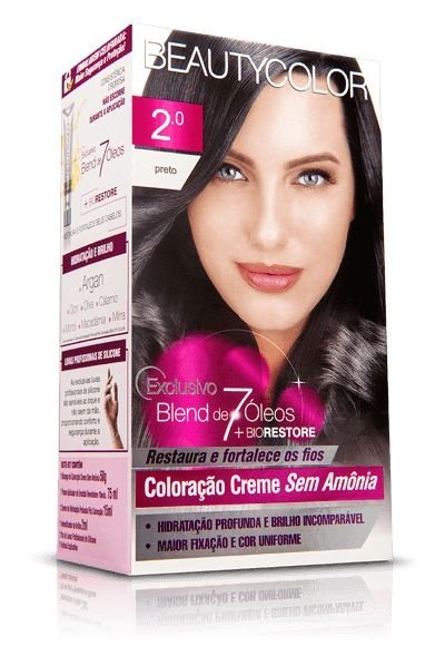 Tintura Beauty Color Puríssi Sem Amônia 2.0 Preto
