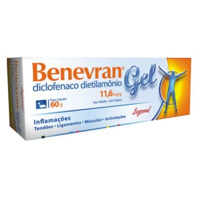 Diclofenaco DIETILAMONIO GEL 60G - BENEVRAN