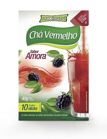 Chá Vermelho Sabor Amora Maxinutri com 10 sticks