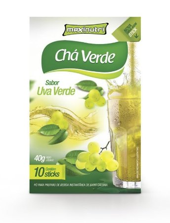 Chá Verde Sabor Uva Verde Maxinutri com 10 sticks