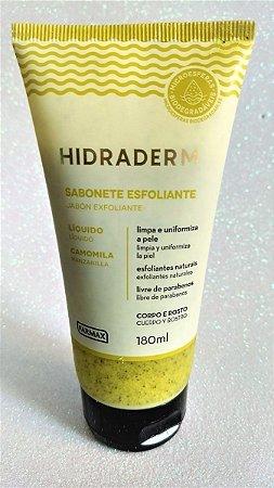 Hidraderm Sabonete Liquido Esfoliante Camomila 180ml Farmax