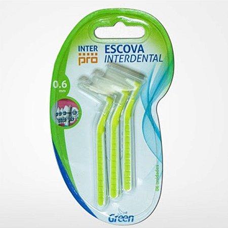 Escova Interdental Green Inter Pro 0.6mm 6un