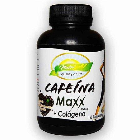 Cafeína Maxx + Colágeno - 180 comprimidos (800 mg)