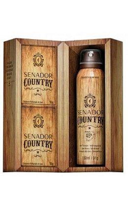 ESTOJO SENADOR COUNTRY sabonete 130gr + desodorante 150ml