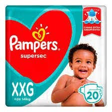 Fralda Pampers Supersec XXG c/ 20 unidades (Vermelha)