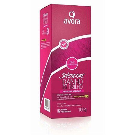 Tonalizante Avora Banho de Brilho Pink Maravilha 100g
