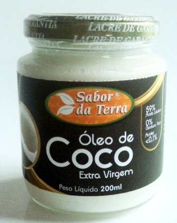 Óleo de Coco Extra Virgem Sabor da Terra 200ml