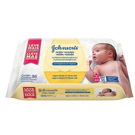Lenço Umedecidos JJ Baby recém-nascido 96un